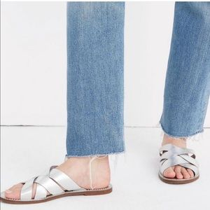 Madewell Boardwalk Metallic Slides